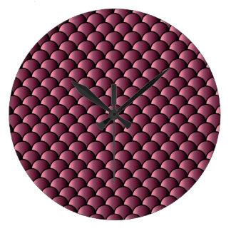 Dragon Scales Pattern Clocks
