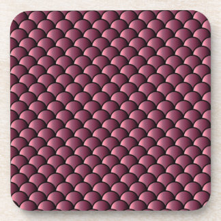 Dragon Scales Pattern Drink Coasters