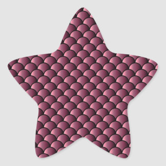 Dragon Scales Pattern Star Sticker