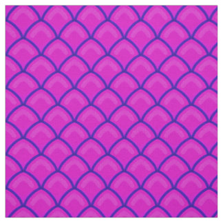 Dragon Scales Pink and Purple Scallop Pattern Fabric
