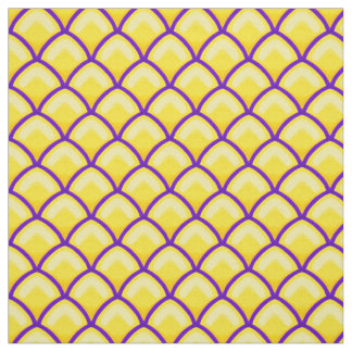 Dragon Scales Yellow and Purple Scallop Pattern Fabric