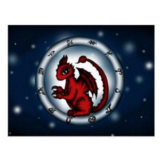 Dragon Scorpio Zodiac Postcard