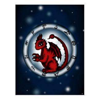 Dragon Scorpio Zodiac Post Card