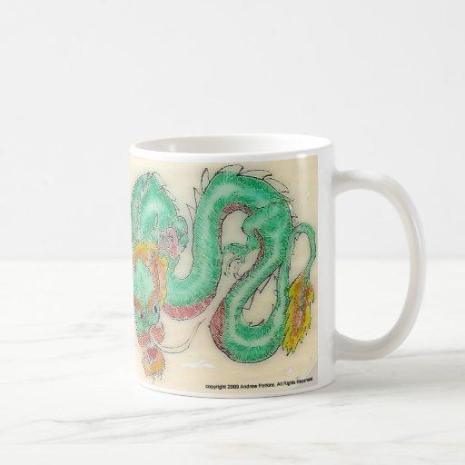 Dragon Scrimshaw Mugs