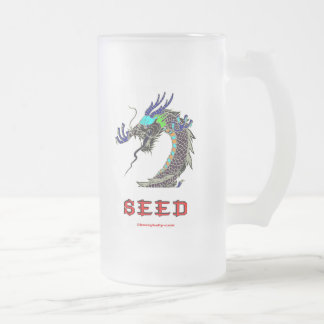 Dragon,Seed,China,Chinese,Han,Asia,Asian Frosted Glass Mug
