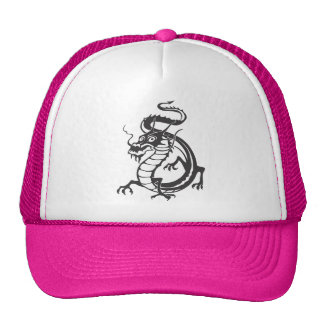 Dragon Serpent Tattoo Fantasy Fiction Drawing Art Mesh Hat