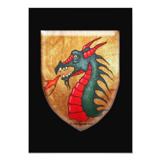 Dragon Shield 13 Cm X 18 Cm Invitation Card