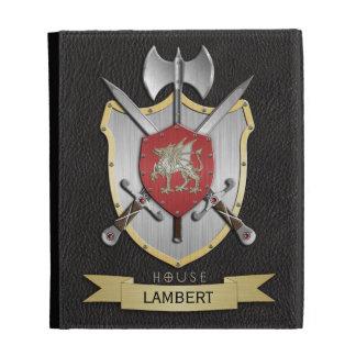 Dragon Sigil Battle Crest Black iPad Folio Cases