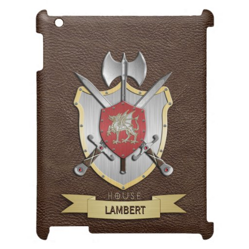 Dragon Sigil Battle Crest Brown Cover For The iPad Mini