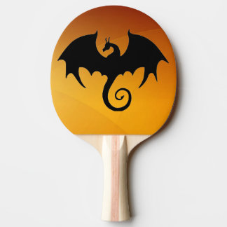 Dragon Silhouette Ping Pong Paddle
