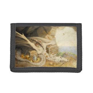 Dragon Skeleton TriFold Nylon Wallet