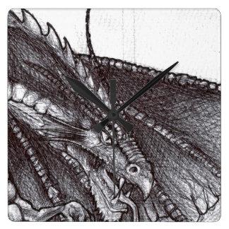 Dragon Sketch Clock