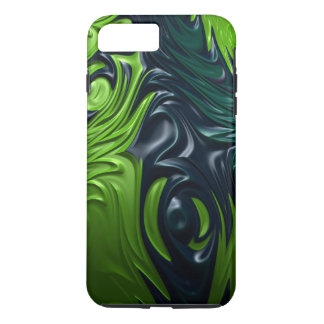 Dragon Skin Blue Green Armor Style Fractal Art iPhone 8 Plus/7 Plus Case
