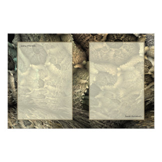 Dragon Skin Fractal Art Notepaper Stationery