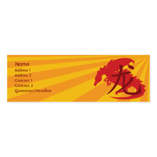 Dragon - Skinny Pack Of Skinny Business Cards