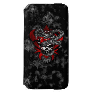 Dragon Skull w/Shadow Lilies iPhone 6s Case Incipio Watson™ iPhone 6 Wallet Case