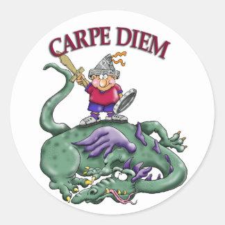 Dragon Slayer - CARPE DIEM Round Stickers