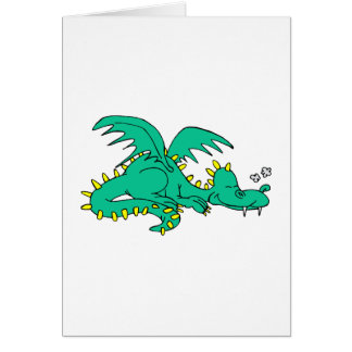 Dragon Sleeping Card
