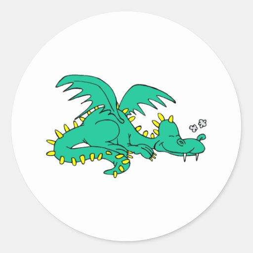 Dragon Sleeping Stickers