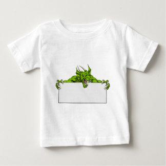 Dragon Sports Mascot Sign Baby T-Shirt