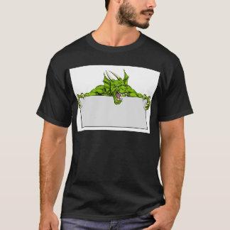 Dragon Sports Mascot Sign T-Shirt