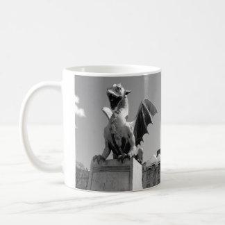 Dragon statue in Ljubljana Slovenia Basic White Mug
