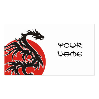 Dragon Sun - black red white + your ideas Pack Of Standard Business Cards