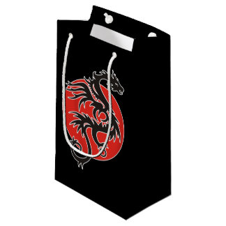 Dragon Sun - black red white + your ideas Small Gift Bag