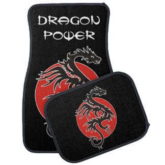 Dragon Sun Power - black red white + your ideas Car Mat