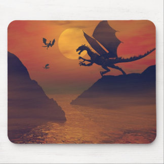 Dragon Sunset Mousepad