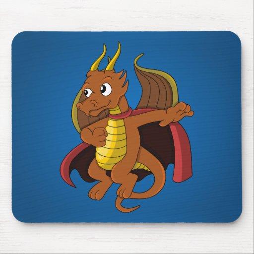 Dragon superhero cartoon Mousepad