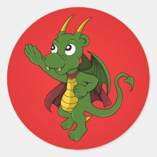 Dragon superhero cartoon Stickers