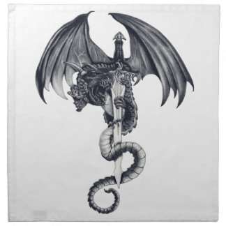 Dragon & Sword Napkin