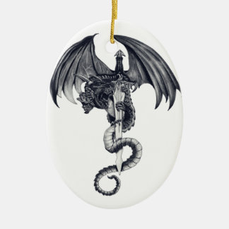 Dragon & Sword Ornament
