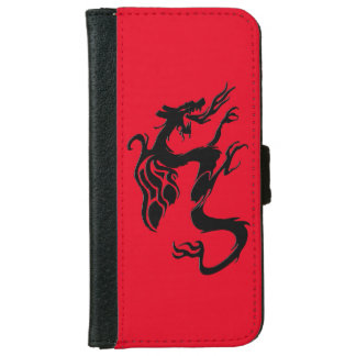 Dragon Symbol, Red iPhone 6 Wallet Case