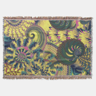 Dragon Tails and Fire Crackers Throw Blanket
