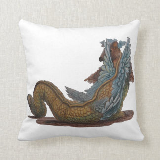 Dragon Tale and Dragon Scale Throw Pillow