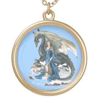 Dragon Tamer 2 Round Pendant Necklace