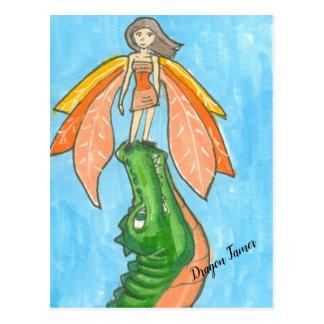 Dragon Tamer the Fairy Postcard