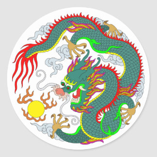 Dragon Tattoo 1 Classic Round Sticker