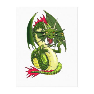 Dragon Tattoo art Gallery Wrapped Canvas