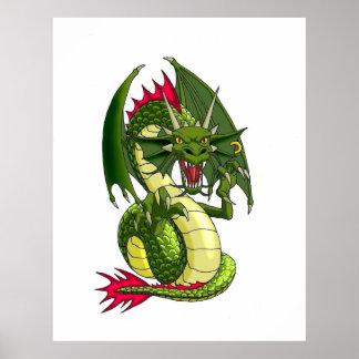 Dragon Tattoo art Poster