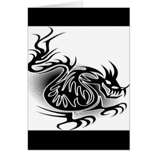 Dragon tattoo design cards