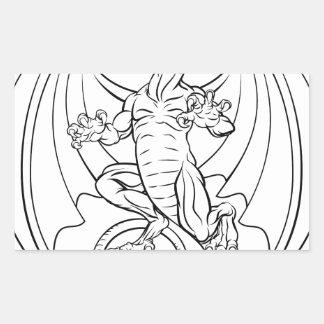Dragon Tattoo Design Rectangular Sticker