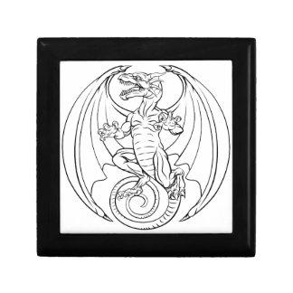 Dragon Tattoo Design Small Square Gift Box
