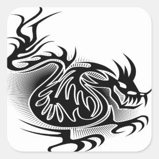 Dragon tattoo design square stickers