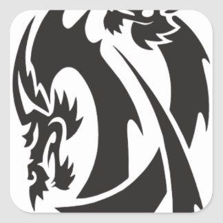 Dragon Tattoo Square Sticker