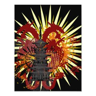 Dragon Temple Custom Party Invitations