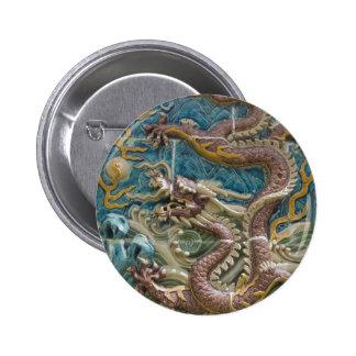 dragon tile 6 cm round badge