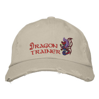 Dragon trainer embroidered hat